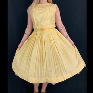 50s Gingham Day Dress